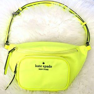 ♠️ Kate Spade Dorien Nylon Belt Bag Neon Yellow
